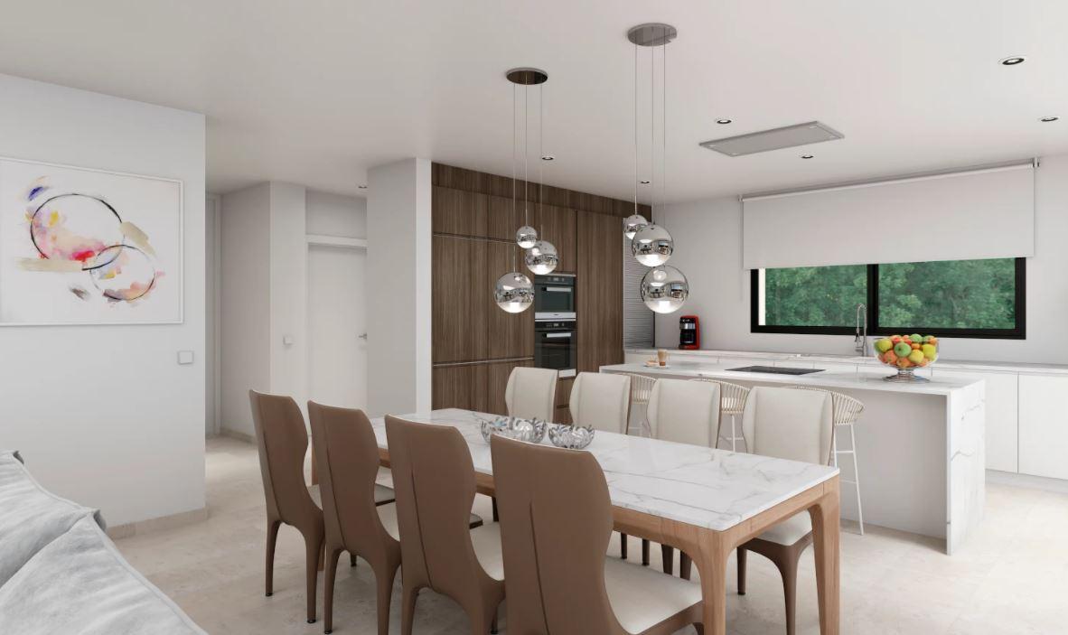 Luxus-Villa im Bau zum Verkauf in Moraira mit Meerblick.